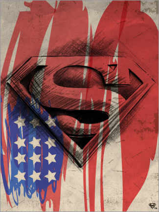 Premium poster  Superman Shield Sketch