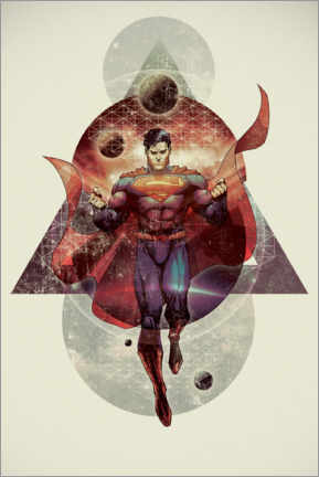 Premium poster  The powerful Superman