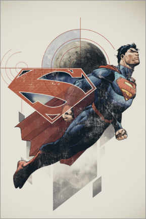 Premium poster  Superman Retro Comic
