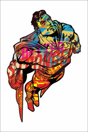 Premium poster  Superman Pop Art Graffiti