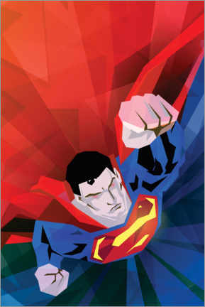 Premium poster  Superman red and blue