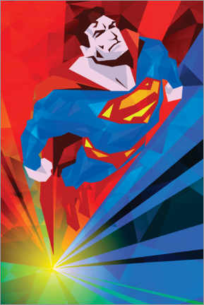 Premium poster  Polygon Superman