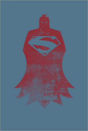 Premium poster  Superman minimal design