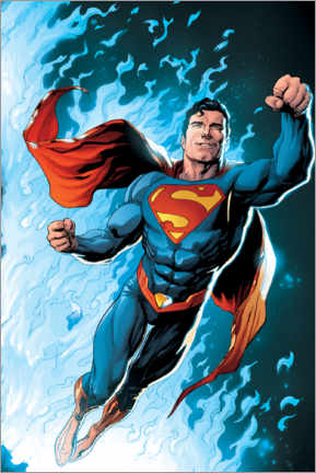 Premium poster  Superman - Blue Flame