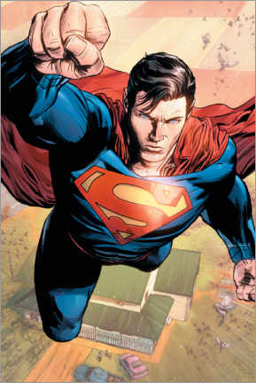 Premium poster  Superman in Action