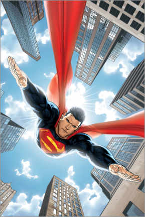 Premium poster  Superman between skyscrapers