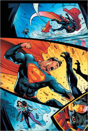 Premium poster  Superman Comic Strip