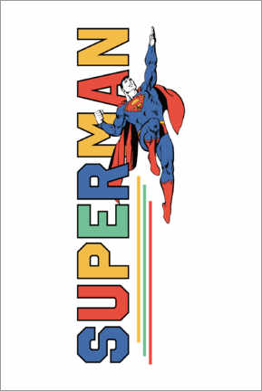 Premium poster  Superman Power Flight