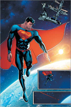 Premium poster  Superman space comic
