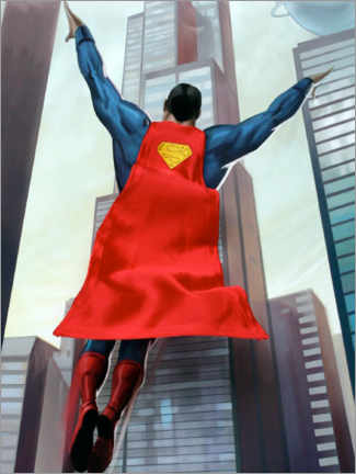 Premium poster  Superman takeoff from Metropolis