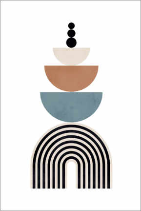 Premium poster  Mid century abstract shapes - Dani Jay Designs