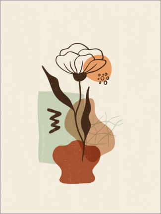 Wall sticker  Flower in a vase - Olga Telnova
