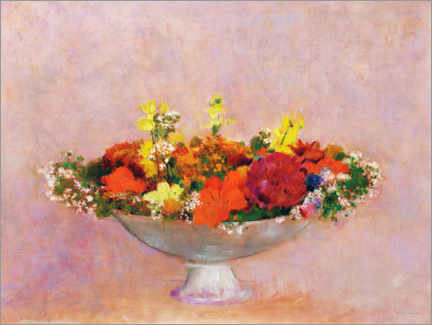 Gallery print  Flowers in a mug - Odilon Redon