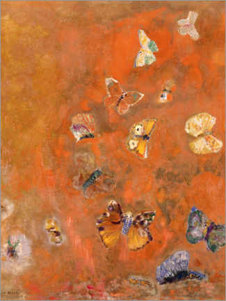 Acrylic print  Evocation of Butterflies - Odilon Redon