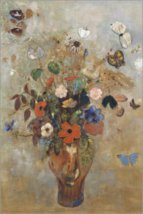 Acrylic print  Still life with flowers - Odilon Redon