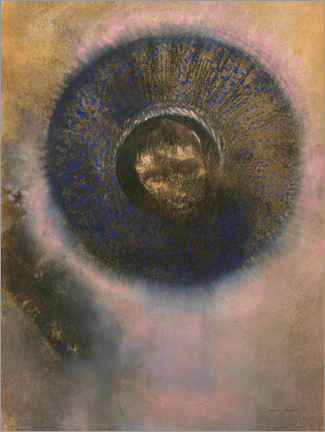 Premium poster  Head within an aureole - Odilon Redon