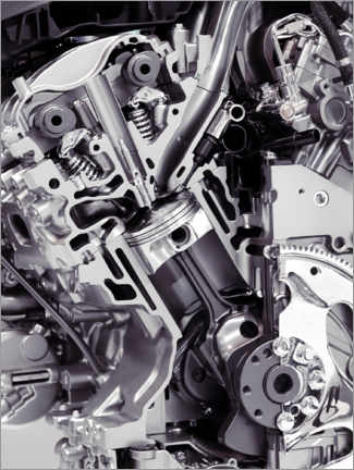 Premium poster  Car engine with cylinders, pistons and valves - Oleksiy Maksymenko