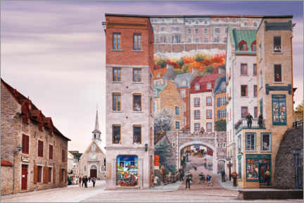 Wall sticker  Wall fresco with the history of Quebec - Oleksiy Maksymenko