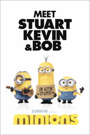 Premium poster  Minions - I'm with stupid