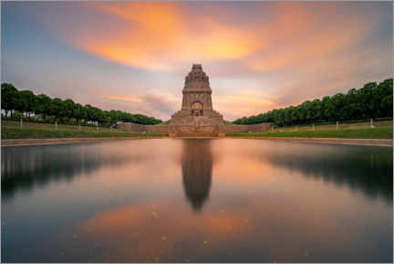 Premium poster  Monument to the Battle of the Nations at sunset - Andreas Vitting