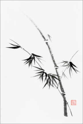 Premium poster Bamboo stem with leaves