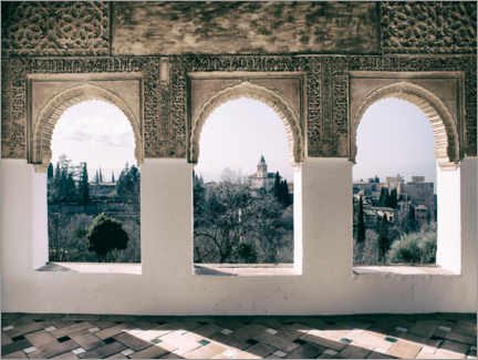 Foam board print  View of the Alhambra - Andreas Mechmann