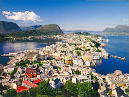Canvas print  Alesund from Aksla mountain, Norway - Dr. Wilfried Bahnmüller