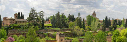 Premium poster View of the Alhambra