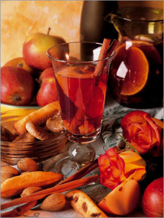 Wood print  Apple punch from Normandy - gourmet-vision