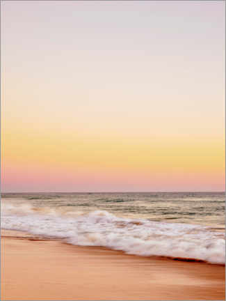 Premium poster Faro Beach at sunset II