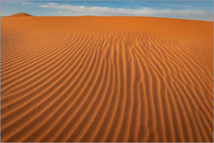 Wood print  Wave pattern in the sand of the Sahara desert - Julian Peters