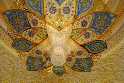 Aluminium print  Ornate ceiling, Sheikh Zayed Grand Mosque, Abu Dhabi - MP