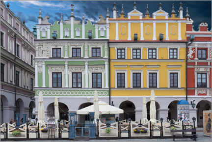 Premium poster Renaissance style houses, Zamosc
