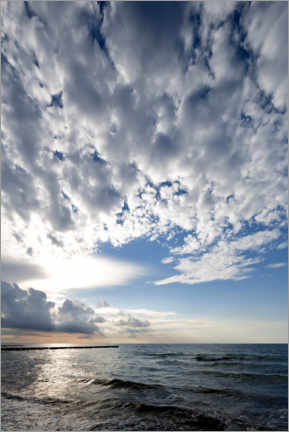 Premium poster Cloud formation over the Baltic Sea