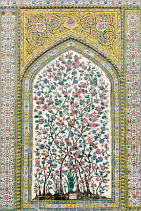 Wood print  Floral pattern, Wakil Mosque - Stefan Auth