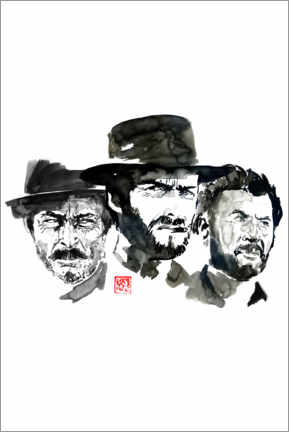 Premium poster  The good, the bad the ugly - Péchane