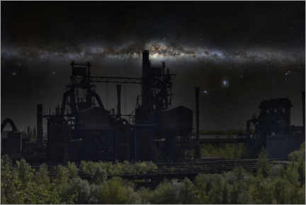 Gallery print  LaPaDu at Night - Industrial Heritage - Nova Art