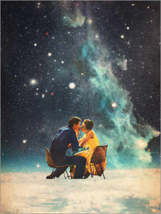 Wood print  I'll Take you to the Stars for a second Date - Frank Moth
