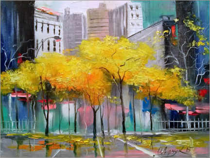 Acrylic print  Autumn in Chicago - Olha Darchuk
