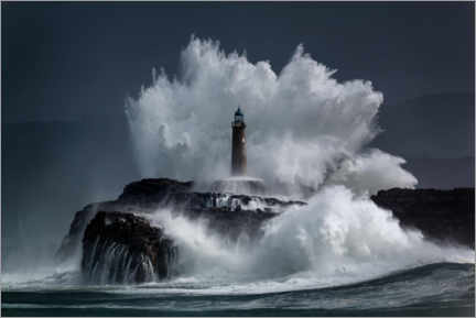 Premium poster  Lighthouse in the waves - Jesus Concepcion Alvarado