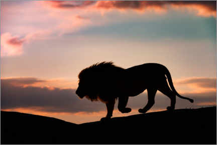 Wall sticker  Sunset in the Serengeti - Mario Vigo