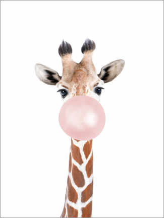 Acrylic print  Bubble Gum Giraffe - Sisi And Seb