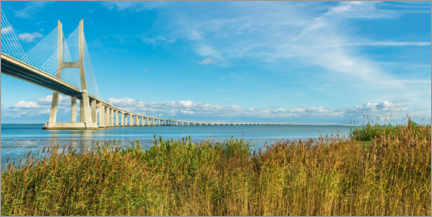 Premium poster  Ponte Vasco da Gama over the Tagus - G&M Therin-Weise