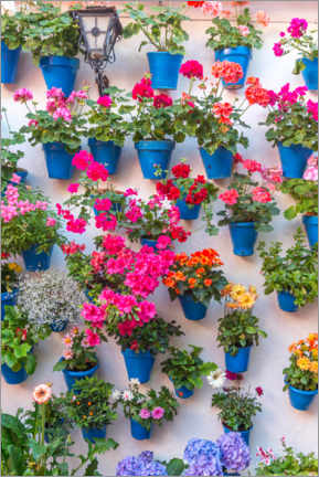 Wall sticker  Lots of flowers in blue flower pots - Moritz Wolf