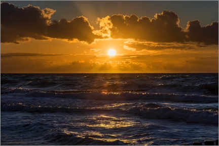 Wall sticker  Sunset over the wavy Baltic Sea - Helmut Meyer zur Capellen