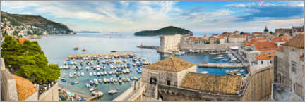 Premium poster  Dubrovnik Old Town Harbor and City Walls, Croatia - Matthew Williams-Ellis