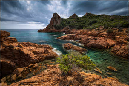 Acrylic print  Heavenly lagoon on the Sardinian coast - Michael Breitung
