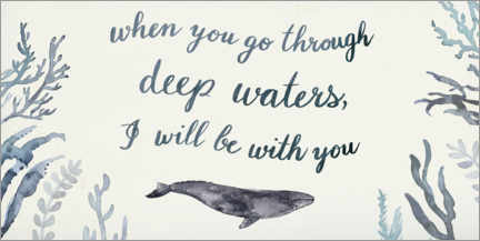 Wood print  I will be with you - Victoria Barnes