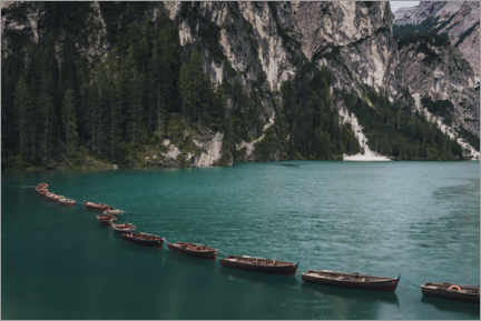 Gallery print  Boats on the Braies Lake - Christian Seidenberg
