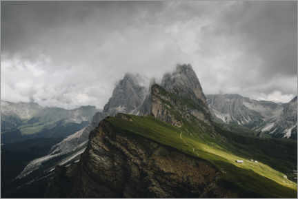 Gallery print  Seceda - clouds and sun - Christian Seidenberg